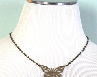 Butterfly Necklace, Butterfly Jewelry, Butterfly, Insect Jewelry, Vintaj Necklace, Made In Ohio, Eleven11Designs, Gifts for Women, Birthday