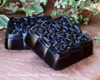 "BLACK CAULDRON BREW™ Signature Scent Square Celtic Knot Olive Oil ""Artisan Alchemist""™ Soap Master Crafted by Witchcrafts Artisan Alchemy"