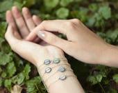 Custom word bracelet, Inspirational women gift, Tiny charm bracelet, inspirational bracelet Mindfulness gift, Custom gift, Personalized gift
