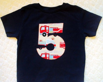 Fire Truck Birthday Shirt- Firetruck Birthday Shirt- Fire Truck Birthday- Fireman Birthday Shirt- Fire Truck Birthday Pary- 3 year old Shirt