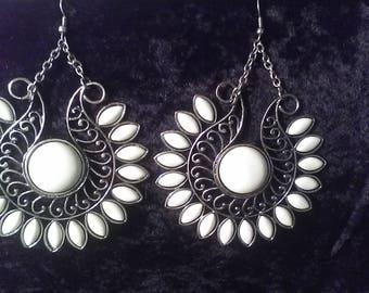Large dangle earrings