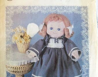 Cloth doll pattern, Vintage pattern, Daisy Mae dolls, 18 inch Lacie, doll pattern, doll dress pattern, 18 inch doll, doll clothes