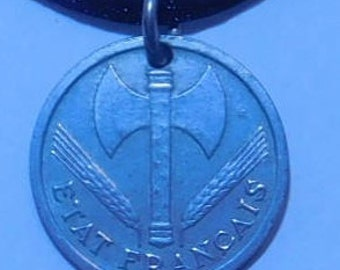1944 French Coin Pendant