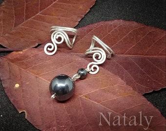 Cartilage Earrings Mismatched Earrings, Sterling Silver Ear Cuff Earrings, Non Pierced Earrings Cartilage Hoop Wire Wrapped Minimal Earrings