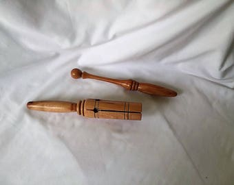 Hand Turned Musical Tapper - Pecan