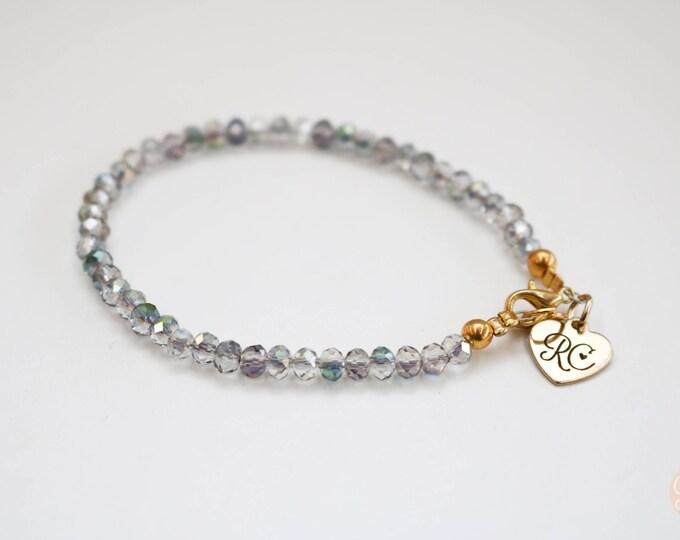Purple Glitter Skinny Bracelet.