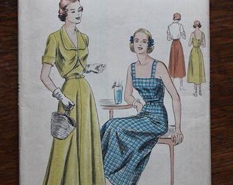 Vogue Sewing Pattern 6467 Sun Dress Bolero Jacket Size 20 Factory Fold 1940s VINTAGE by Plantdreaming