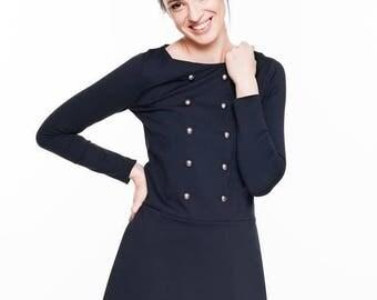 SALE - Short dress | Sailor dress | Midnight blue dress | LeMuse short dress