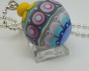 Minarette Bauble Bead, Handmade Lampwork Bead, ooak
