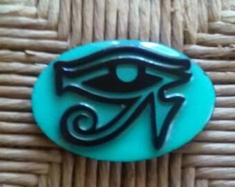 Eye of Ra Refrigerator Magnet Aqua Color
