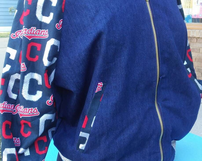 Featured listing image: Cleveland Indians Women's Bomber Jacket