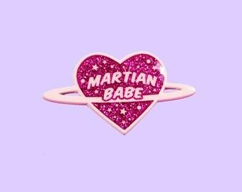 Martian Babe - Pink Soft Enamel Pin