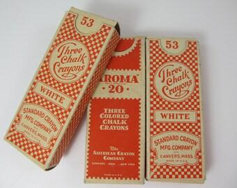 Vintage Boxes Of Chalk Set Of Three