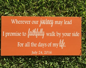 5th Anniversary Gift Custom Wood Sign ~Gift To Bride ~Gift For Groom ~Wedding Vows ~New Home Gift ~Housewarming ~Personalized Wedding Signs