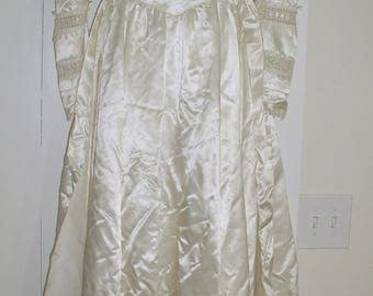 Vintage Gunne Sax Jessica McClintock Romantic Renaissance Prairie Wedding Bridal Dress BOHO Ivory Satin