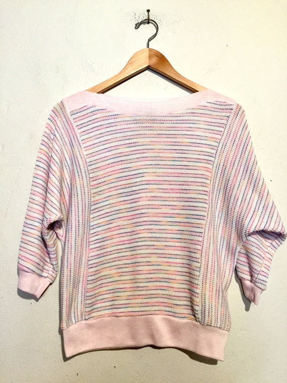 Pastel Striped Dolman Sleeved Sweater
