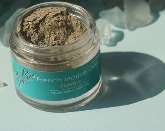 Beauty Brew French Marine Clay Powder. Mineral Face Mask. Balancing For All Skin Types