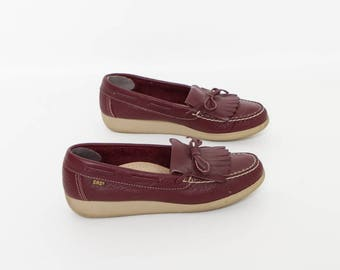 vintage SAS shoes oxblood loafers