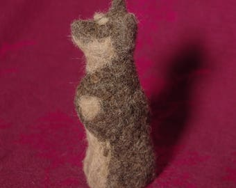 Australian Cattle Dog - handmade from needle felted sheep and alpaca wool