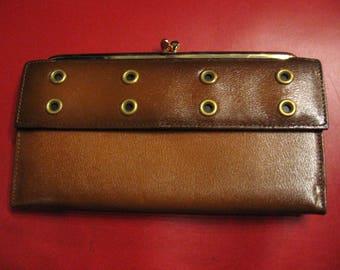 MOD 1970s - vintage unused leather wallet