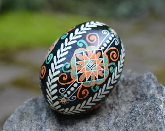 Egg symbol of wholeness and new life it's awesome gift for any occasion  handwriting on the egg shell done with hot beeswax using kistka