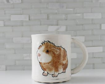 Hamster Mug | one of a kind hamster design | animal critter pet coffee mug tea cup | cute gift | in stock