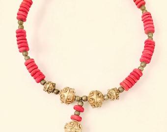 Ethnic Choker Necklace Handmade Vintage Jewelry