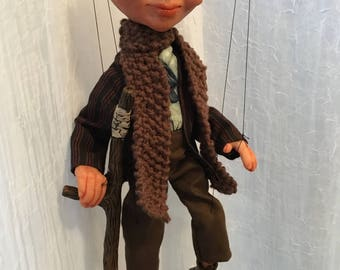 A Christmas Carol, Tiny Tim Marionette MADE TO ORDER