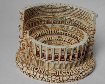 Miniature Scale Model of the Roman Coliseum-Roma-Il colosseo-Paperweight