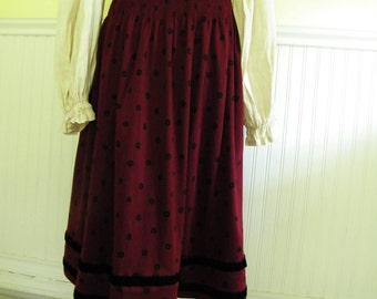 Vintage Italian Red Polka Dot Skirt, size S-M