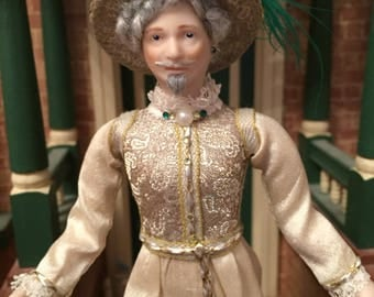 OOAK 1/12 th scale dolls house doll- Distinguished 16 th century man