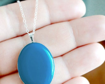 Large Sterling Silver Locket - Heirloom Pendant Style Necklace