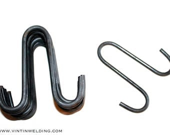 Hand Forged Iron DOUBLE Pot Rack Hooks - You Select Quantity - Hand Forged Iron Pot Rack Hooks by VinTin