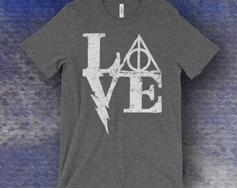 Harry Potter Inspired Love Screen Printed T-Shirt