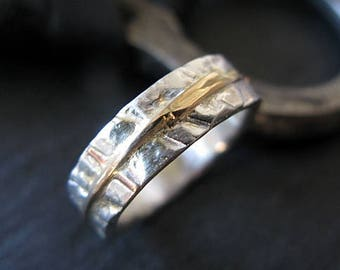 Mens Wedding Band Mens Wedding Ring Fine Silver Ring Distressed Ring River Ring Unique Mens Wedding Band Viking Wedding Ring Rustic Ring