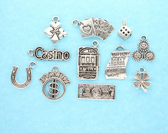 Painted pewter charms gambling jessica broulette