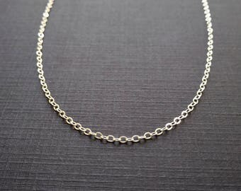 BASIC - 5, 6, 7, 8, 9, or 10 inch - Sterling Silver Chain - Cable Chain Bracelet - Finished Silver Chain Anklet - Simple Chain Jewelry