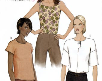 Vogue 7478 Sewing Pattern for Misses' Top - Uncut - Size 12, 14, 16