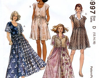 McCall's 6997 Sewing Pattern for Misses' Dress, Jumpsuit and Romper - Uncut - Size 12, 14, 16