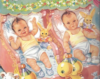 Vintage B. Shackman & Co. Babyland Paper Dolls, C1997