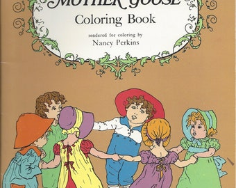 Vintage Kate Greenaway's Mother Goose Coloring Book, C1972