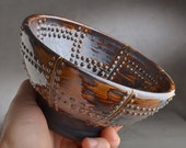 Shaving Bowl Ready To Ship Rust Brown Sheet Metal Shaving Lather Bowl by Symmetrical Pottery