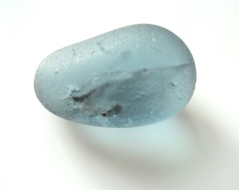 Collectors Seaglass - Grey Egg - Mar1809 - from Seaham beach,  UK