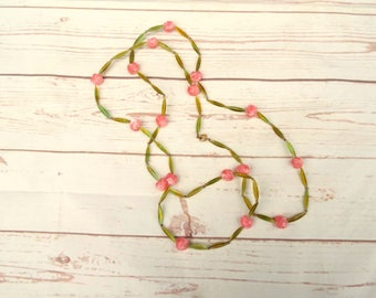 Vintage Joy Necklace - Vintage Lucite Necklace - Fruit Vintage Necklace - Heart Vintage Necklace - Plastic Vintage Necklace - 70s Jewellery