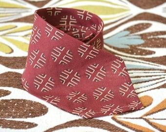 1930s Wool Three Fold Necktie