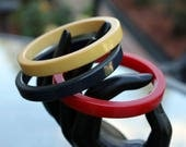 Trio of Patriotic Bakelite Spacer Bangles