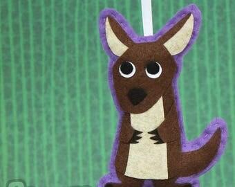 Felt Christmas Ornament - Animal Lover Gift - Mildred The Kangaroo