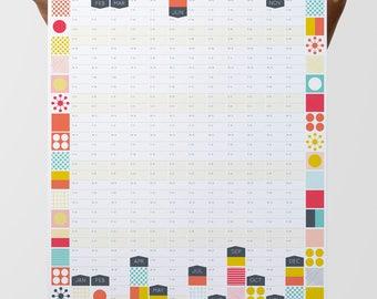 Large Wall Planner, 2018 Calendar, Office Calendar, Large Wall Calendar, 2018 Planner, Year Planner
