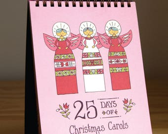 25 Days of Christmas Carols Advent Calendar set of 8