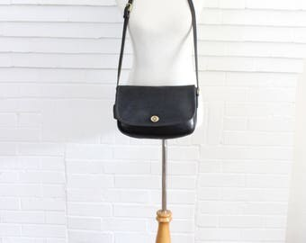 Vintage Coach Bag // City Messenger Bag Black Pre 9790 // Coach Leather Handbag Purse